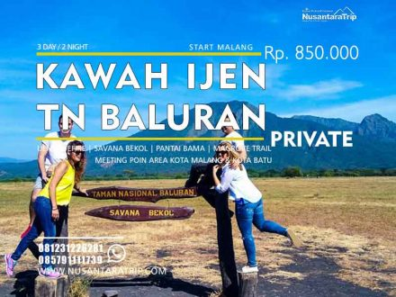 Paket Wisata Ijen Baluran Private