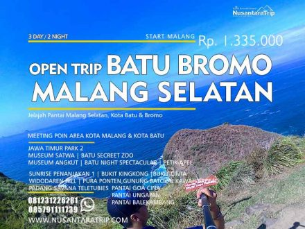 Open Trip Pantai Malang Batu Bromo 3H2M, Paket Wisata Malang, Pantai malang selatan