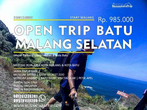 Open Trip Malang Pantai Batu 3H2M, Paket wisata pantai malang