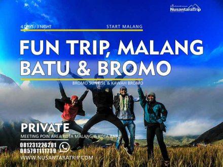 Paket Wisata Malang Batu Bromo 4H3M